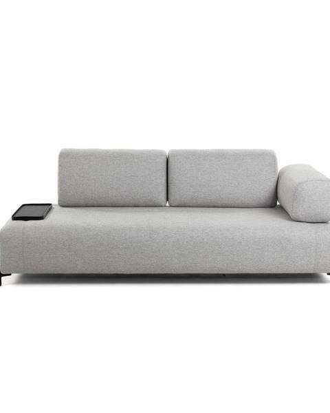La Forma Béžovo-sivá pohovka s malým odkladacím priestorom La Forma Compo