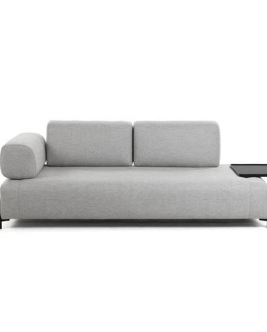 Béžovo-sivá pohovka s odkladacím priestorom La Forma Compo