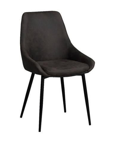 Tmavohnedá polstrovaná jedálenská stolička Rowico Sierra