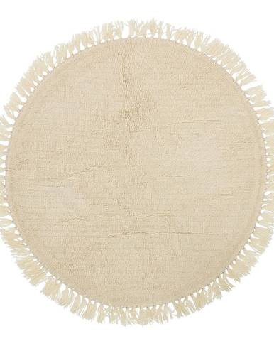 Béžový vlnený koberec Bloomingville Nature, ⌀ 110 cm