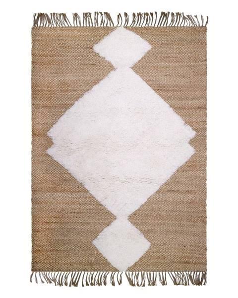 Nattiot Prírodný ručne vyrobený koberec Nattiot Elton, 110 x 170 cm