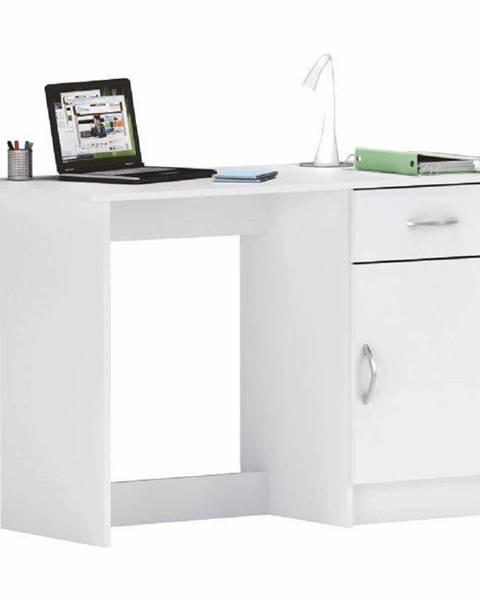 Kondela Univerzálny PC stôl biela SIRISS
