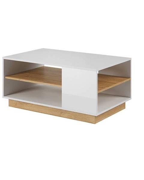 Tempo Kondela Konferenčný stolík biela/dub grandson CITY