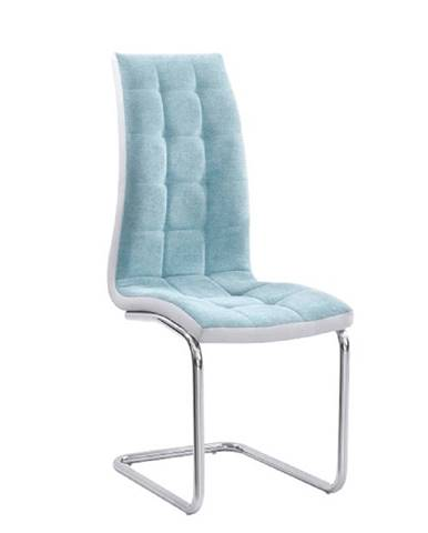 Jedálenská stolička mentolová/sivá/chróm SALOMA NEW