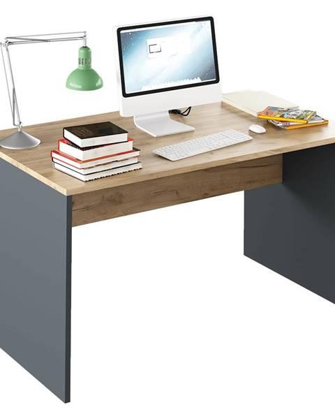 Tempo Kondela Písací stôl grafit/dub artisan RIOMA NEW TYP 11