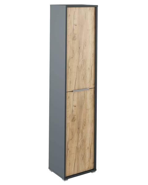 Kondela Vysoká skriňa s policami grafit/dub artisan RIOMA NEW TYP 06