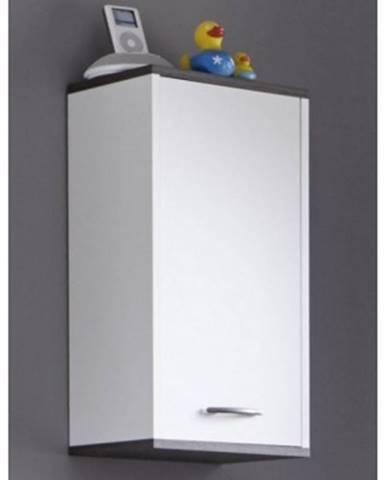 Kúpeľňová závesná skrinka California, biela/šedý dub%