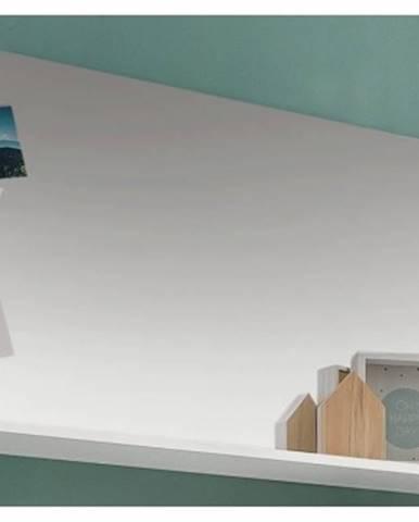 Nástenné zrkadlo s policou Amanda 451, biele%