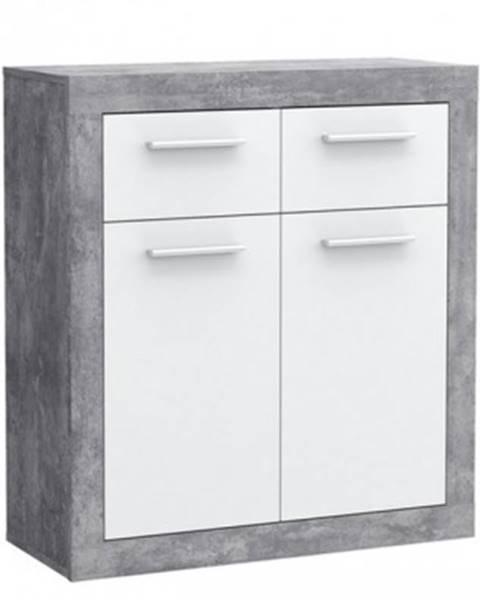 ASKO - NÁBYTOK Komoda Baccio 221, beton/biela%