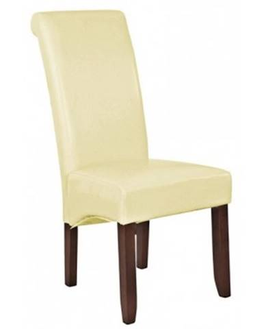 Jedálenska stolička Lenox, krémová ekokoža%