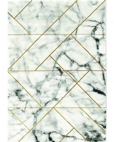 ASKO - NÁBYTOK Koberec Craft 80x150 cm, mramorový dizajn, šedo-zlatý%