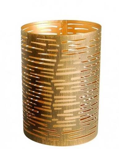 Kovový svietnik Tim, výška 15 cm, bronzový%