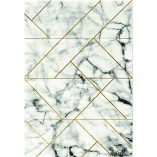 Koberec Craft 80x150 cm, mramorový dizajn, šedo-zlatý%