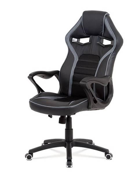 Sconto Kancelárska stolička ALIEN čierna/sivá