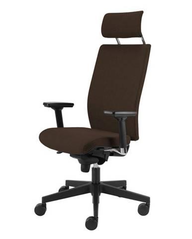 Kancelárska stolička CONNOR tmavohnedá