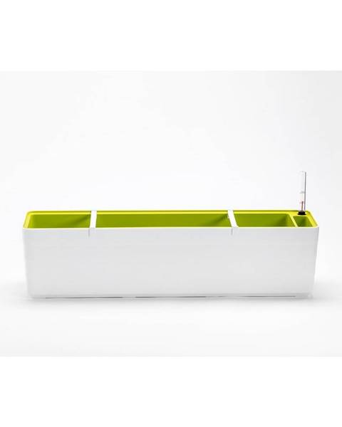 Plastia Plastia Samozavlažovací truhlík Berberis 80, biela + zelená