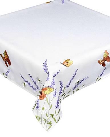 Forbyt Obrus Motýle a levanduľa, 35 x 35 cm