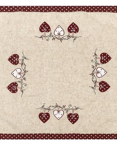 BO-MA Trading Obrus Srdiečka bodka červená, 85 x 85 cm