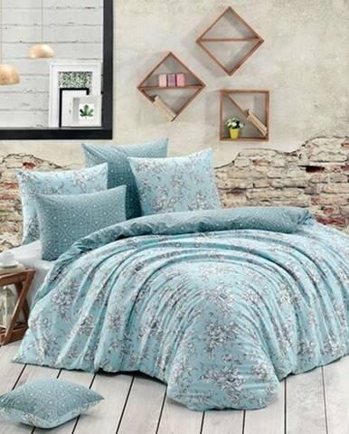 BedTex Bavlnené obliečky Estelita tyrkysová, 140 x 200 cm, 70 x 90 cm