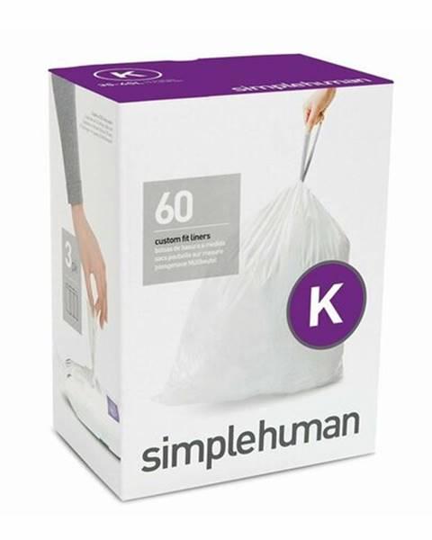 Simplehuman Vrecia do odpadkového koša 35-45 L, Simplehuman typ K zaťahovacie, 3 x 20 ks (60 vriec )