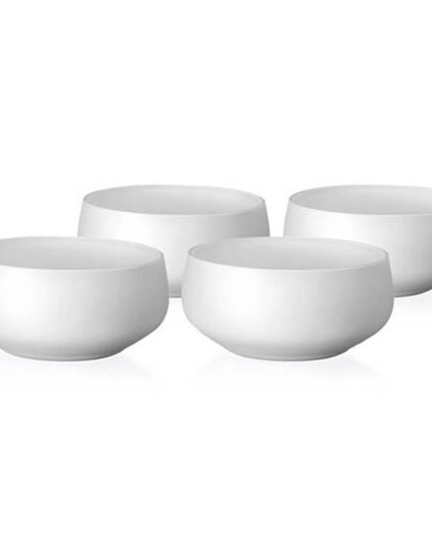 Crystalex Crystalex 4-dielna sada misiek Mini Bowls White, 95 ml