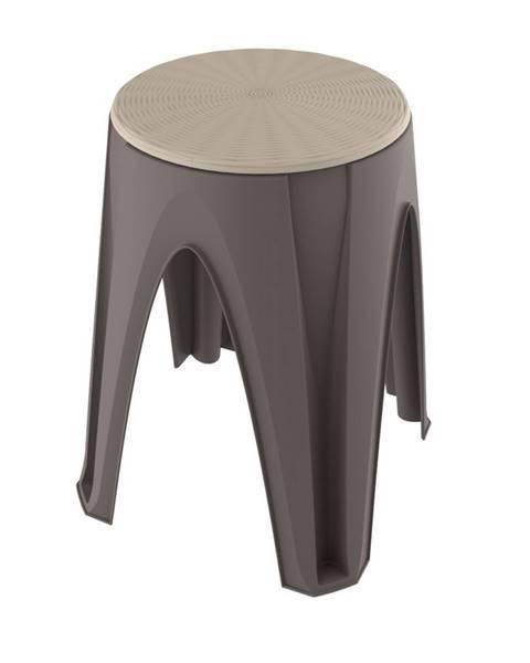 Spaas Otočná stolička Girotondo hnedá, 35 x 35 x 45,5 cm
