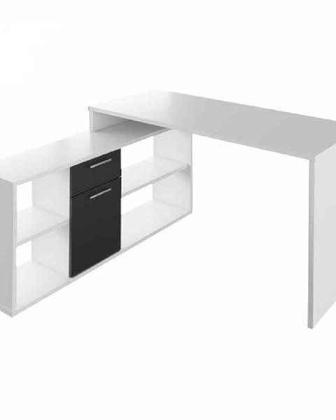 Tempo Kondela PC stôl biela/čierna NOE NEW