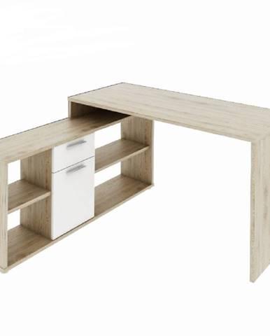 PC stôl dub san remo/biela NOE NEW