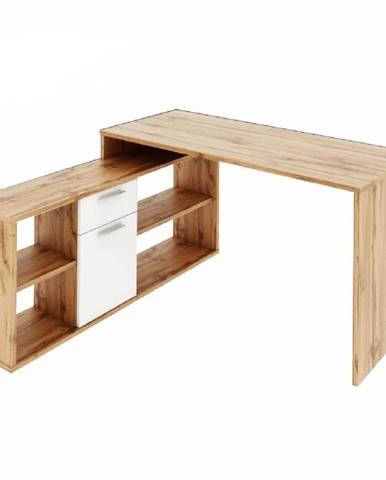 PC stôl dub wotan/biela NOE NEW