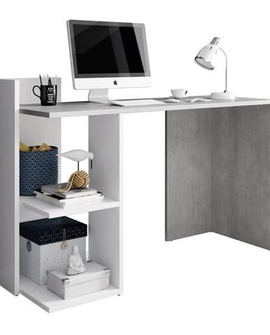 PC stôl betón/biely mat ANDREO