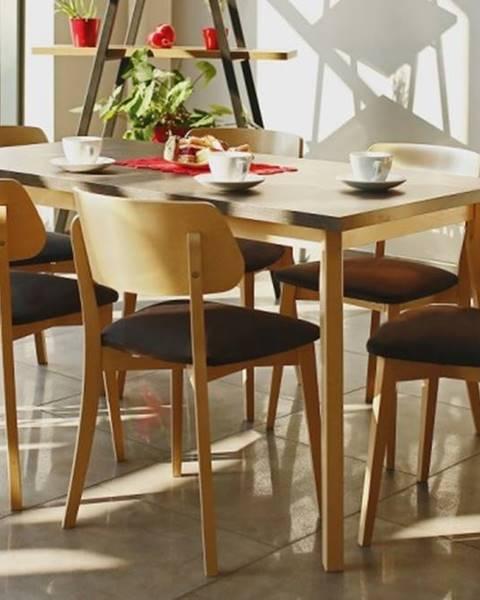 OKAY nábytok Jedálenský set Ombo-6x stolička, 1x rozkladací stôl