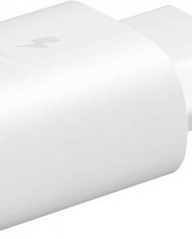 Nabíjačka Samsung 1x USB Typ C, 25W + USB kábel Typ C, biela