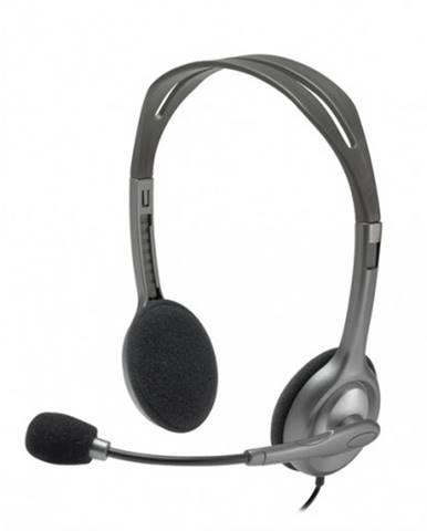 Slúchadlá Logitech Stereo H111, s mikrofónom, čierna
