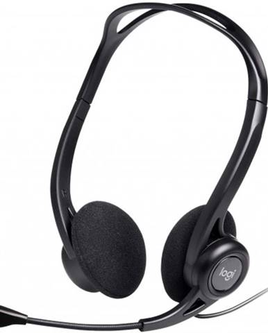 Slúchadlá s mikrofónom Logitech Corded PC 960, čierne