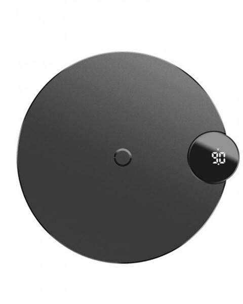 Baseus Bezdrôtová nabíjačka Baseus, s LED displejom, čierna