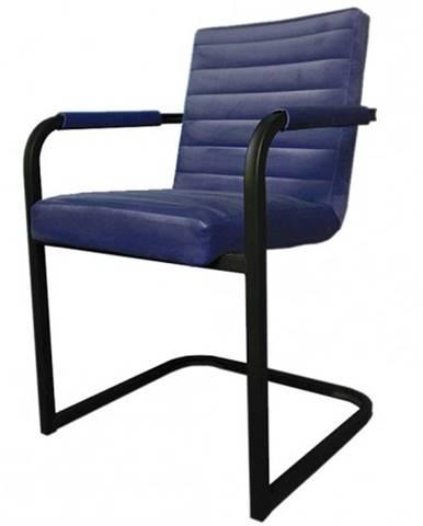 Jedálenská stolička Merenga čierna, modrá