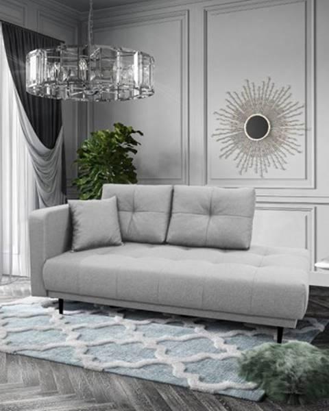 OKAY nábytok Leňoška Bony s úložným priestorom, ľavá strana, sivá