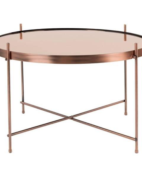 Zuiver Odkladací stolík v medenej farbe Zuiver Cupid