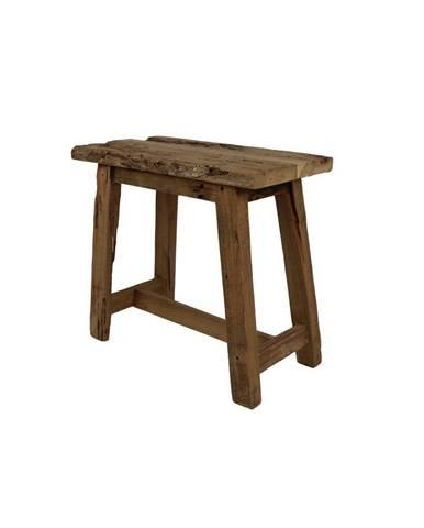 Stolička z teakového dreva HSM collection Rustical, dĺžka 50cm