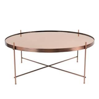 Konferenčný stolík v medenej farbe Zuiver Cupid XXL