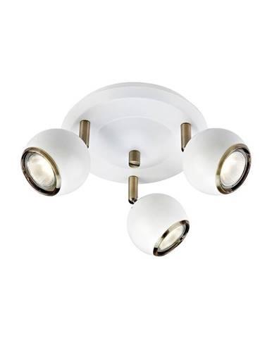 Biele stropné svietidlo s detailmi v zlatej farbe Markslöjd Coco