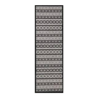 Krémovo-čierny behúň Zala Living Cook & Clean Ella, 60×180cm