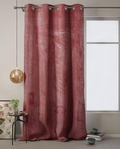 Ružový záves AmeliaHome Velvet, 140 x 270 cm