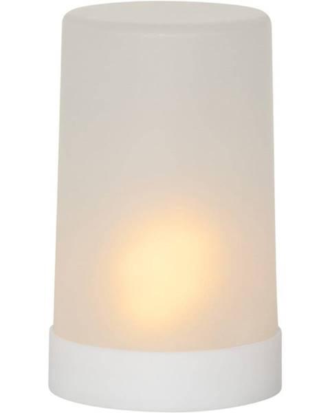 Best Season Biela LED vonkajšia svetelná dekorácia Best Season Candle Flame, výška 14,5 cm