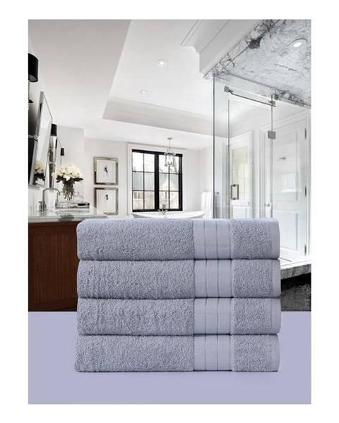 Uni Sada 4 svetlosivých bavlnených uterákov Muller Textiels, 50 × 100 cm
