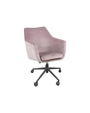 Ružová kancelárska stolička Actona Nora