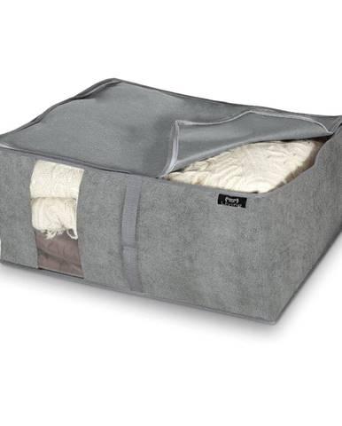 Sivý úložný box Domopak Stone, 55 x 45 cm