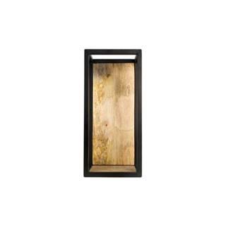 Nástenná polica s detailom z mangového dreva HSM collection Caria, 25×55 cm