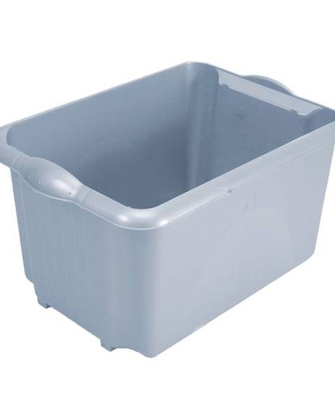 Addis Sivý úložný box z recyklovaného plastu Addis Eco Range, 30 l