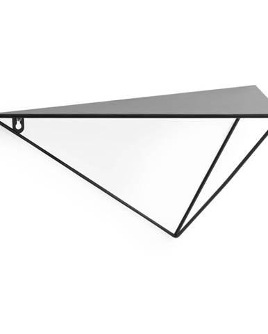 Čierna polica La Forma, výška 20 cm